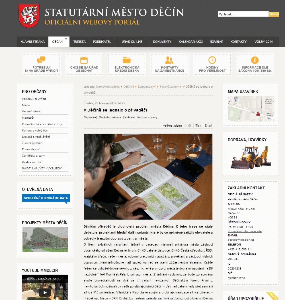 web Magistrát jednání